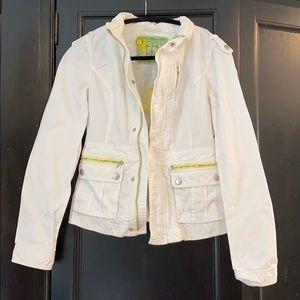 Free people cream twill jacket
